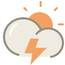 thunder day Icon