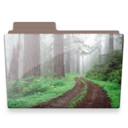 128x128px size png icon of forest folder