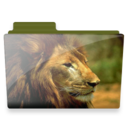 128x128px size png icon of lion folder