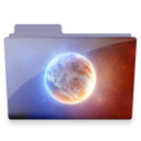 128x128px size png icon of planet folder