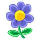 128x128px size png icon of Blue Flower