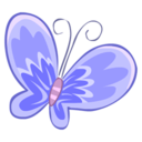 128x128px size png icon of Blue butterfly