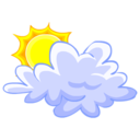 128x128px size png icon of Cloud Sun