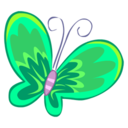128x128px size png icon of Green Butterfly