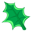 128x128px size png icon of Green Leaf