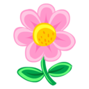 128x128px size png icon of Pink Flower