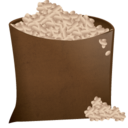 128x128px size png icon of sack full 2