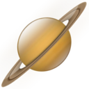 128x128px size png icon of Saturn
