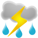 128x128px size png icon of Thunderstorms