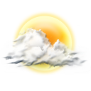 128x128px size png icon of cloudy partly
