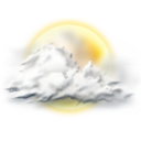 128x128px size png icon of sunny partly