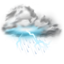128x128px size png icon of thunder lightning storm