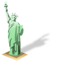 128x128px size png icon of Statue of liberty