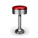 128x128px size png icon of Bar stool