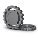 128x128px size png icon of Gear wheel