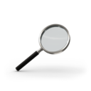 128x128px size png icon of Magnifying glass