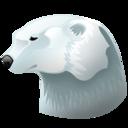 128x128px size png icon of Polar bear