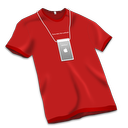 128x128px size png icon of Apple Store Tshirt Red