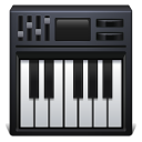 128x128px size png icon of piano keyboard
