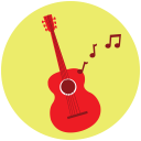 128x128px size png icon of Guitar Music