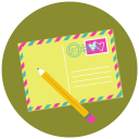 128x128px size png icon of Write Pencil Mail