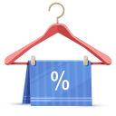 128x128px size png icon of discount