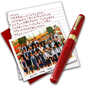 128x128px size png icon of Diary Photo Class