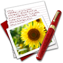 128x128px size png icon of Diary Photo Sunflower