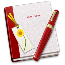 128x128px size png icon of Notebook Bookmark