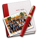 128x128px size png icon of Notebook Photo Class