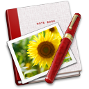 128x128px size png icon of Notebook Photo Sunflower