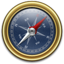 Compass Gold Blue Icon