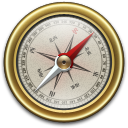128x128px size png icon of Compass Gold
