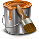 128x128px size png icon of paint bucket