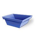 128x128px size png icon of container empty