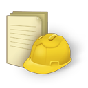 128x128px size png icon of document construction