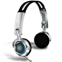 128x128px size png icon of Headphones with microphones