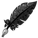 128x128px size png icon of Feather