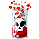 128x128px size png icon of Poison
