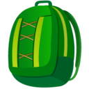 128x128px size png icon of Backpack