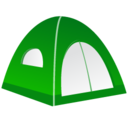 128x128px size png icon of Tent