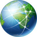 128x128px size png icon of Global Network