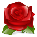 128x128px size png icon of Rose