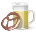 128x128px size png icon of Beer And Pretzel