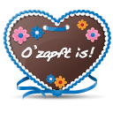 128x128px size png icon of Gingerbread Heart