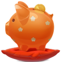 128x128px size png icon of piggy bank