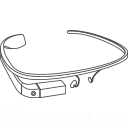 128x128px size png icon of Google Glass construction