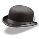 128x128px size png icon of Hat bowler