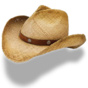 128x128px size png icon of Hat cowboy straw