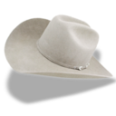 128x128px size png icon of Hat cowboy white